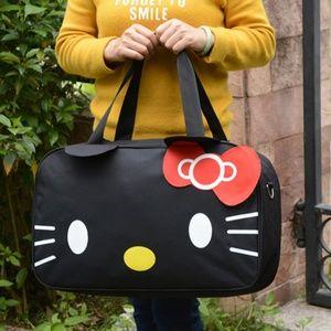 Hello Kitty Large Black Duffle Travel Gym Bag